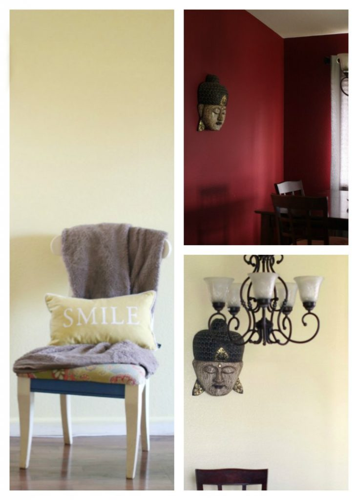 Books #WhatsYourColorStory before after home decor by changing colors.
