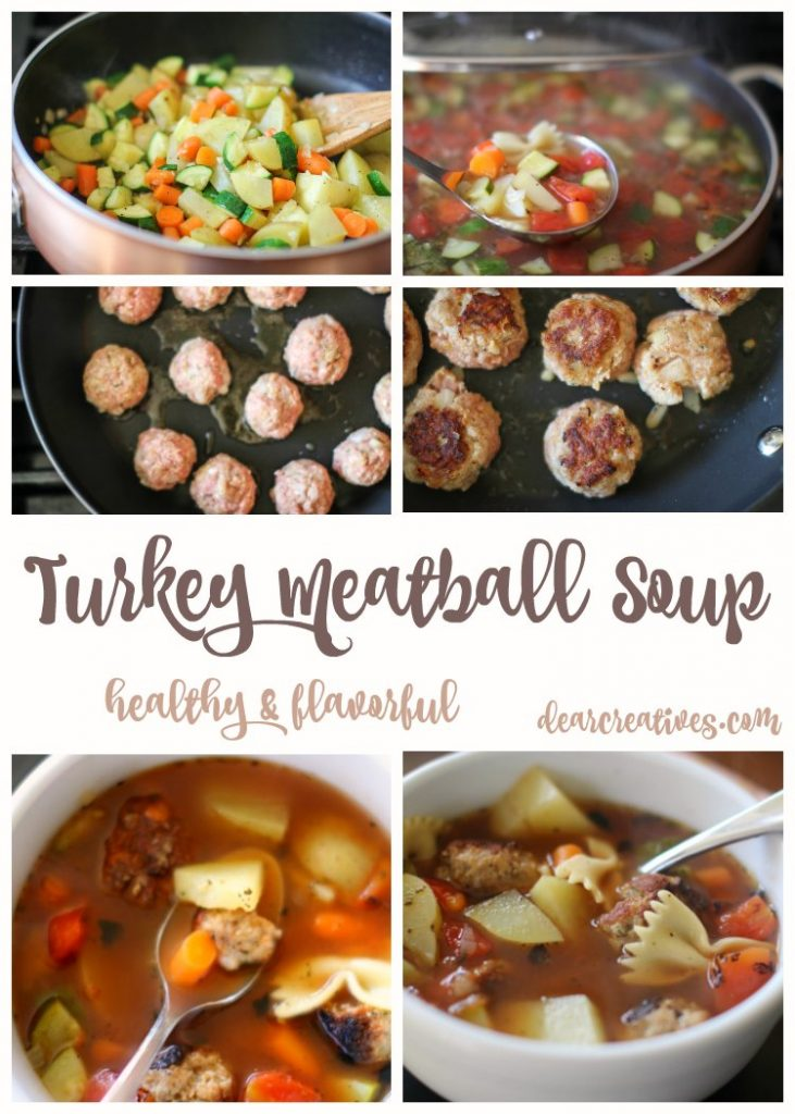 Easy Recipes Easy Soup Recipe for Turkey Meatball Soup. This is a healthy and flavorful recipe that everyone will enjoy.