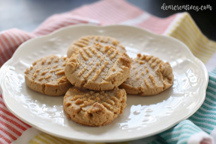 Baking Recipes Easy and delicious Peanut Butter Cookies Recipe Once Again Nut butters DearCreatives.com