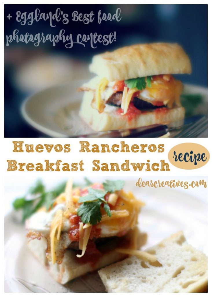 Food Photography Eggland's Best Foodtography Contest and huevos rancheros breakfast sandwich recipe and how to cook eggs.