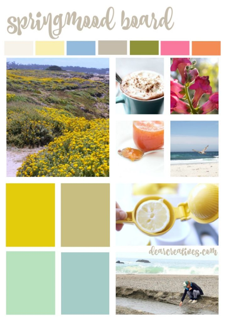 color inspiration mood board spring beach colors #livecolor