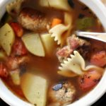 Are you looking for a flavorful and delicious turkey meatball soup? This turkey soup is easy to make recipe are full of vegetables, turkey meatballs, and pasta noodles. Healthy and hearty. It's healthy comfort food in a bowl of soup. DearCreatives.com