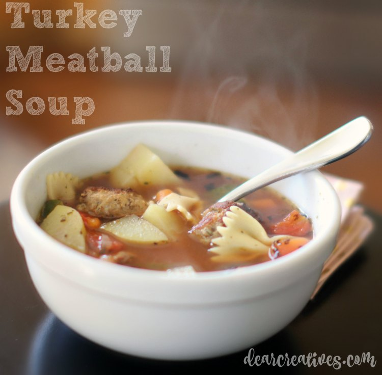 easy recipes soup recipe Turkey Meatball Soup with vegetables DearCreatives.com
