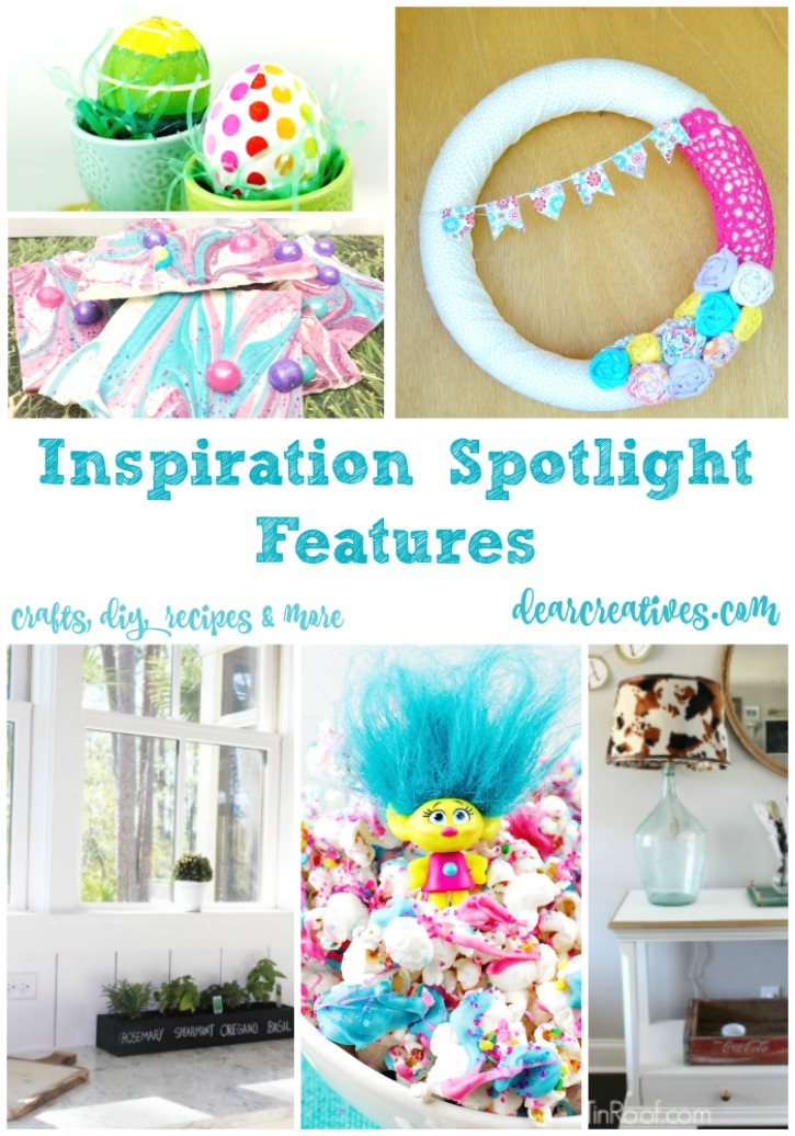 Linkup party Inspiration Spotlight party 236 bloggers sharing their favorite crafts, DIY, recipes, beauty and fashion.....