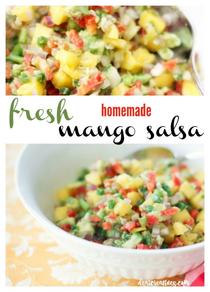 Salsa Recipes Mango Salsa Recipe. This is a combination of sweet and mildly spicy. You'll love eating this fresh homemade mango salsa and it's quick and easy to make! Serve it with chips or add it to any of your recipes!