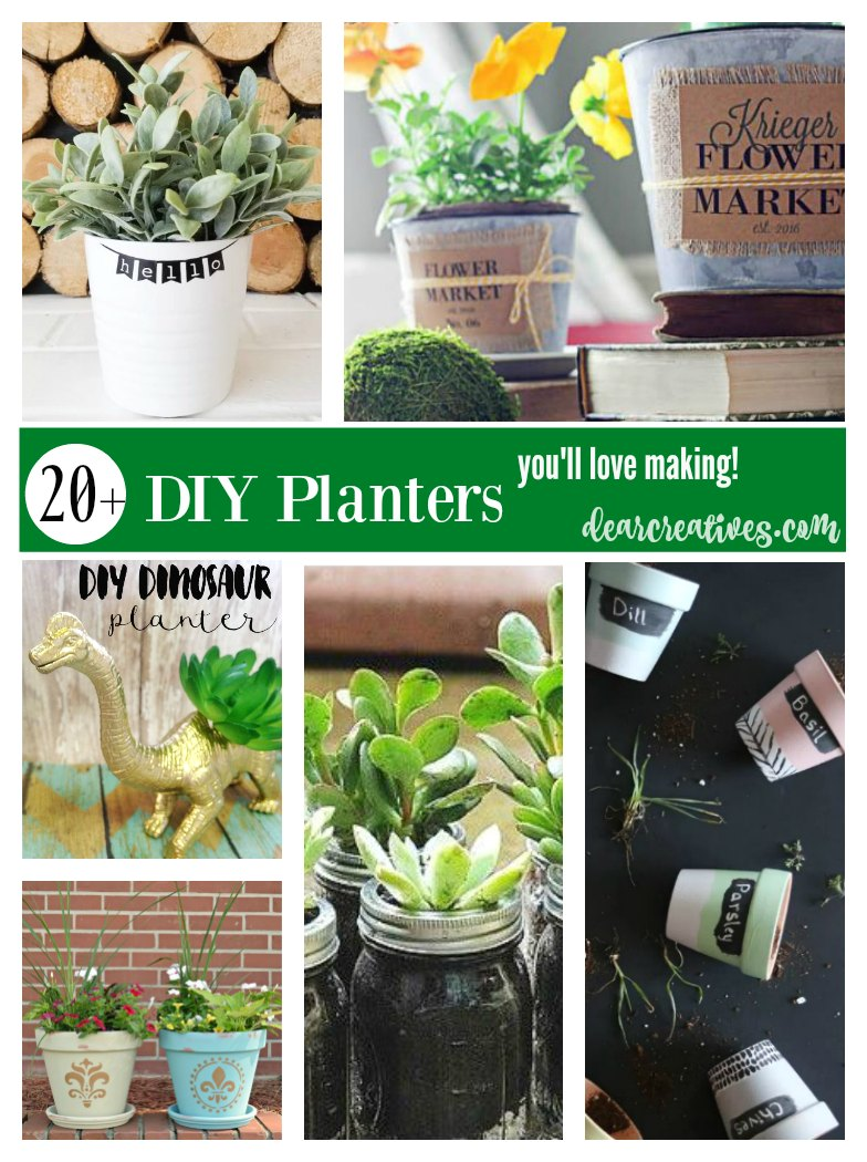 DIY Planters That Are Fun, Easy And Make Great Gifts!