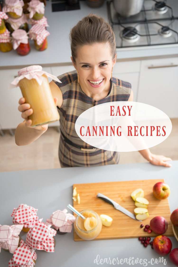 Easy Canning Recipes for canning, freezing and preserving. You'll love picking from these easy canning recipes. Perfect for the novice canner or anyone who just likes using easy canning recipes.