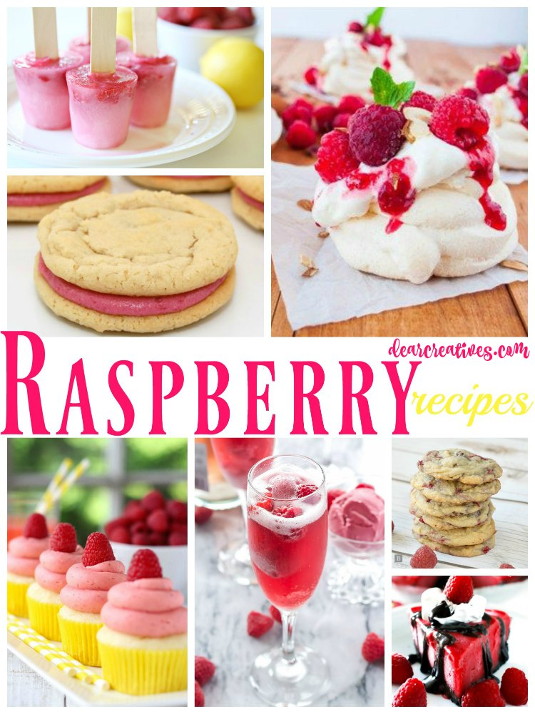 Raspberry Recipes So many great raspberry recipes to pick from in this recipe roundup from desserts, frozen treats, cookies and drinks all made with raspberries.