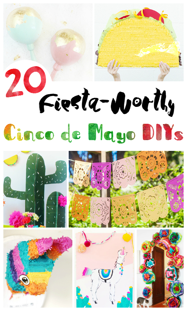 Cinco de Mayo Crafts - Are you ready to throw a themed Cinco de Mayo Party? Or fiesta themed party or shower? Make any of these 20 fiesta party decorations for Cinco de Mayo, or your fiesta themed showers. See how to make pinatas, maracas, paper flowers, and banners. Have the best shower or Cinco de Mayo party ever!