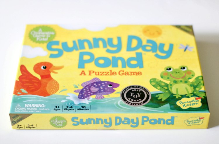 gift ideas for kids games peaceable kingdom Sunny Day Pond Puzzle Game