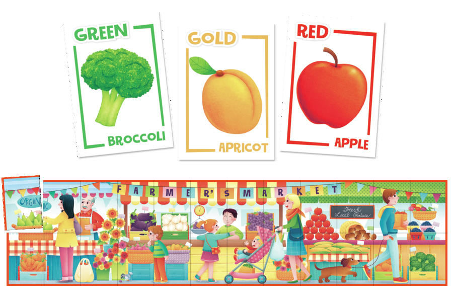 gift ideas for kids farmer's market mix and match puzzle game