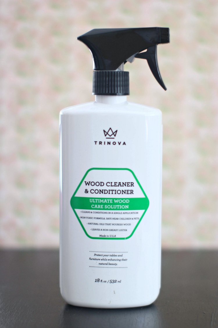 spring cleaning - cleaning Trinova wood cleaner and conditioner © 2017 Theresa Huse spring cleaning tips and free spring cleaning printables