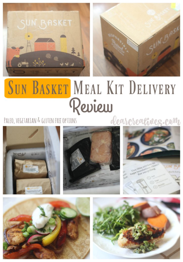 Review Sun Basket Delivery Kit Review | un boxing and finished meals from Sun Basket meal delivery kit service.