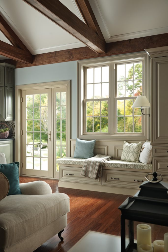 living room slider doors and windows Tuscany from Milgard