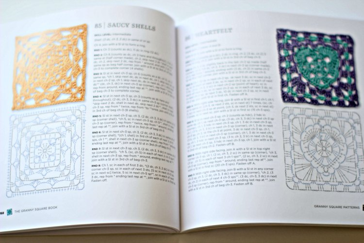 Craft book review Granny Square Book DearCreatives.com 100 ideas for crocheting granny squares- how to crochet