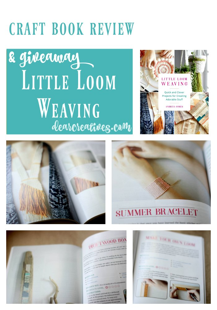Crafts Craft book review Little Loom Weaving Books Worth Reading. This book is perfect for beginning to intermediate small loom weaving. Are you interested in small loom weaving Enter our giveaway and find out more about this craft book.