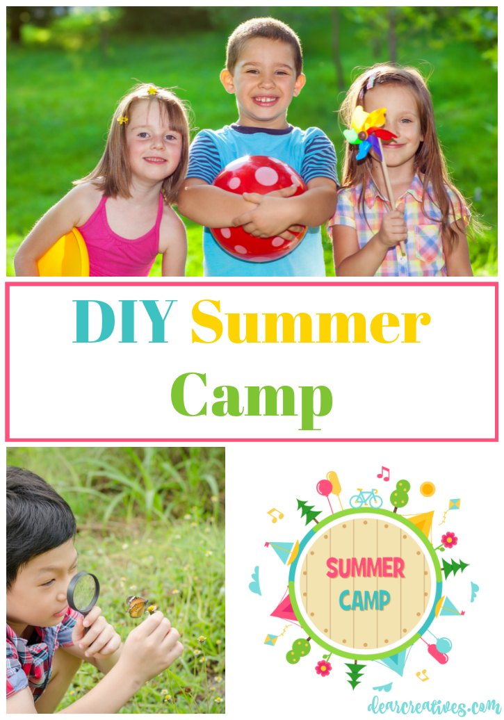 Fun stuff for the kids DIY Summer Camp arts and crafts ideas, activities, camp journals and free printables for the kids