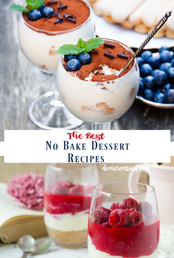 No Bake Dessert Recipes this is a roundup of no bake pies, no bake desserts and no bake cake recipes. Perfect for anytime of year you want an easy no bake dessert recipe. So many to pick from!