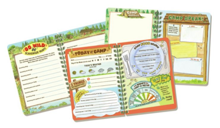 un stuff for the kids summer camp journal -inside peek of the summer camp journal