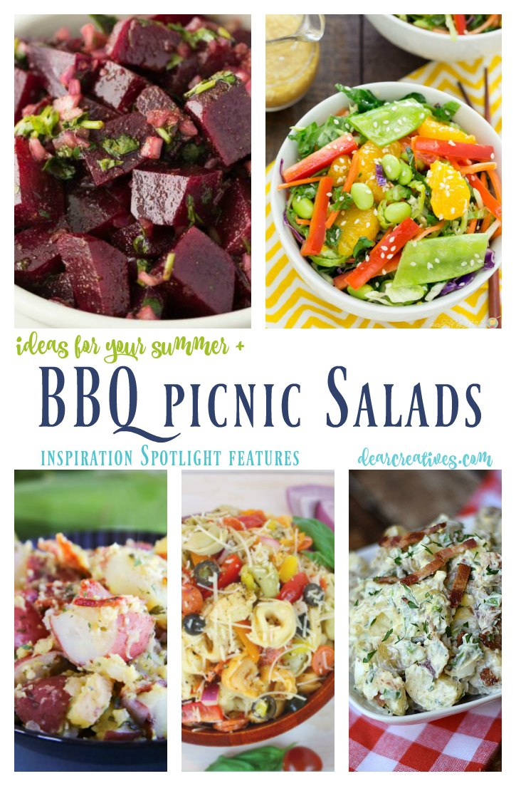 linkup party Inspiration Spotlight today's features are salad ideas for your barbecues and picnics, along with so many other ideas. If your a blogger come share your blog posts.