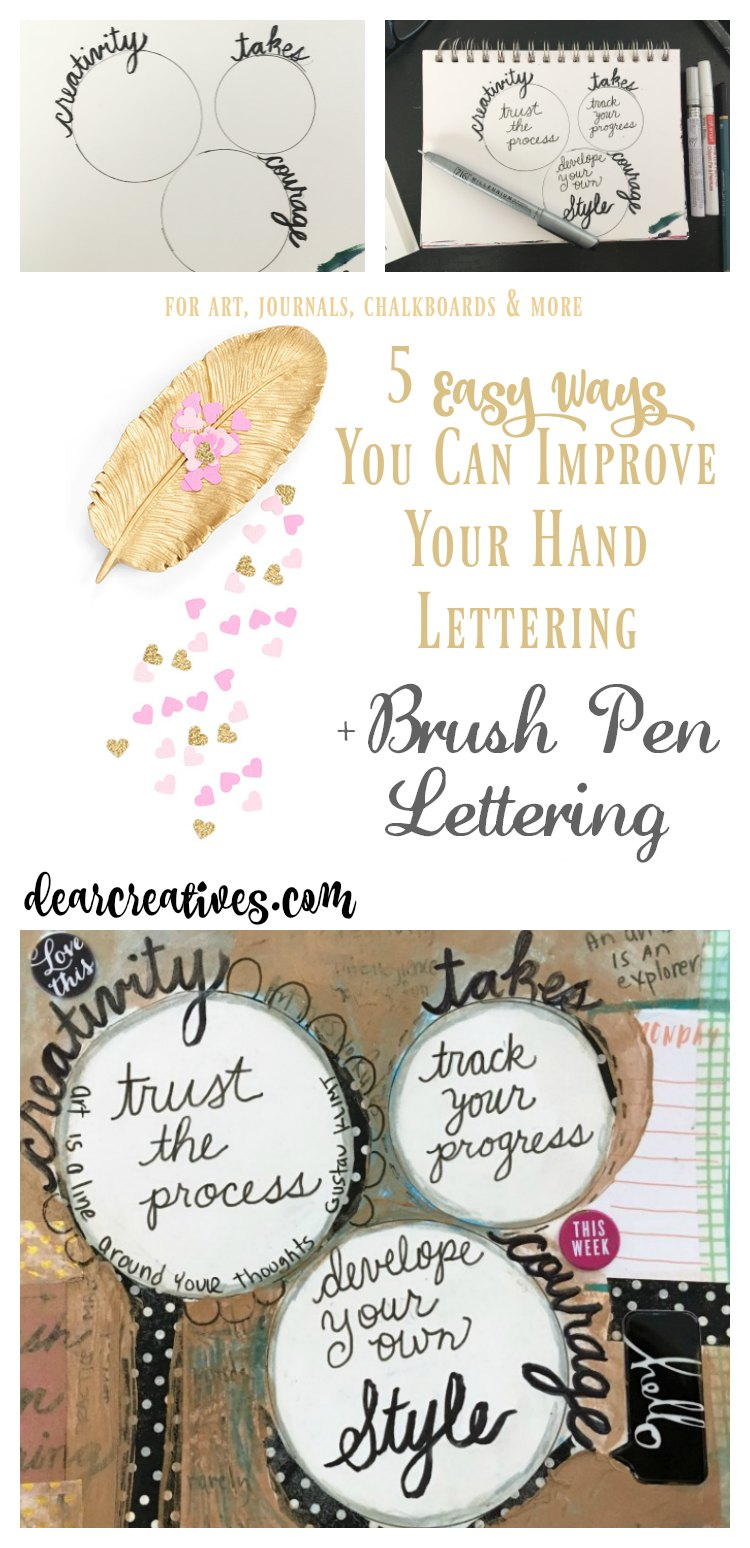 Have you ever wanted to learn how to hand letter better Or brush pen letter Learn how for every day, art, journals, chalkboard art and more. See how DearCreatives.com