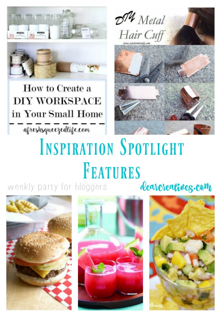 Linkup Party Inspiration Spotlight 254 bloggers sharing their favorite blog posts. beauty, crafts, diy, home decor, fashion, recipes and more at DearCreatives.com