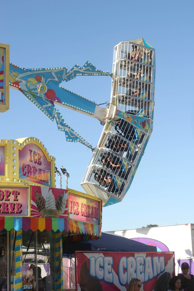 Mid State Fair high voltage ride goes upside down and is a thrill ride - DearCreatives.com
