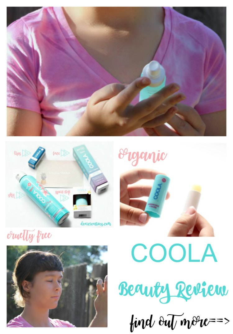 COOLA Suncare Beauty Review Organic, cruelty free sun care and beauty products. Find out more and see our beauty review at DearCreatives.com
