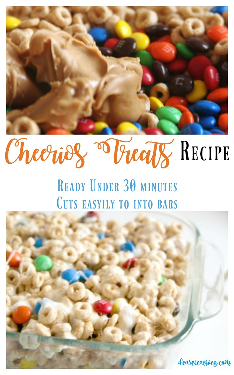 Cheerios Treats With Peanut Butter And M & M Candies