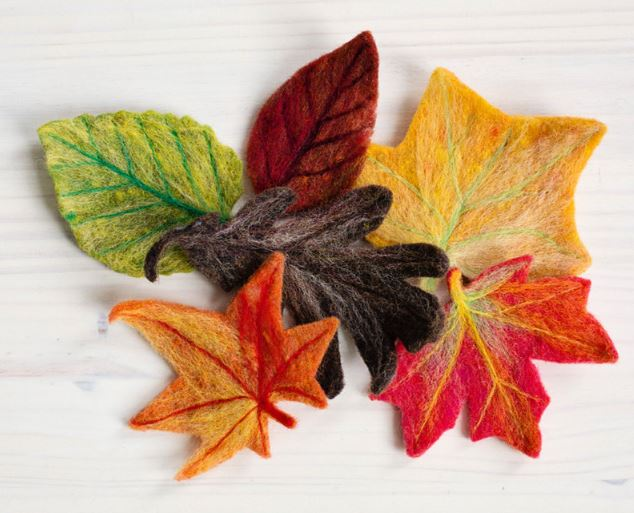 Craft Kit for Needle Felted Leaves