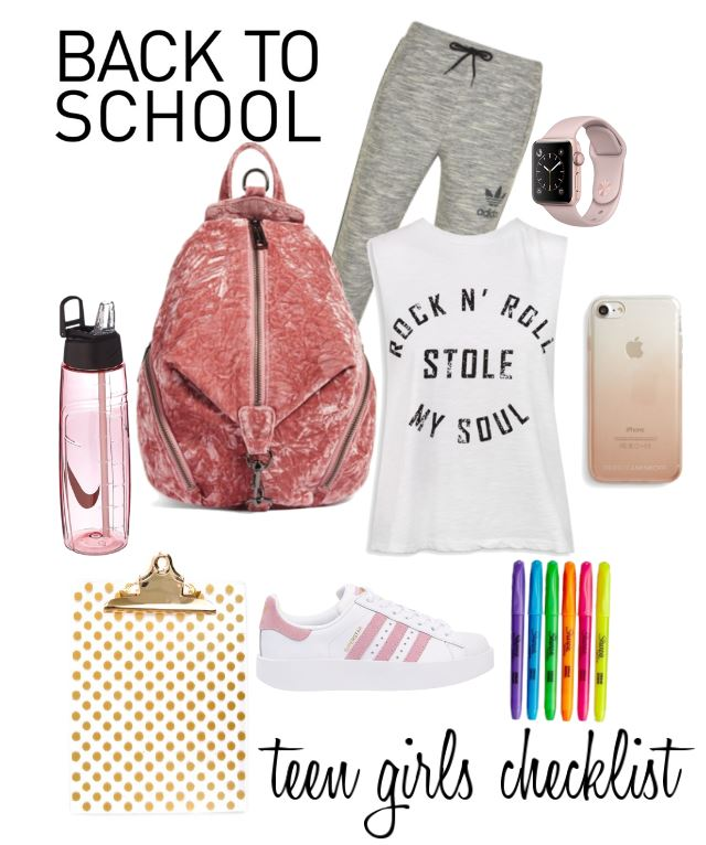 Back to school girls teen checklist. Whether just starting shopping, making sure you have all you need. or updating your school supplies this checklist will be handy year round. Includes a free printable checklist.