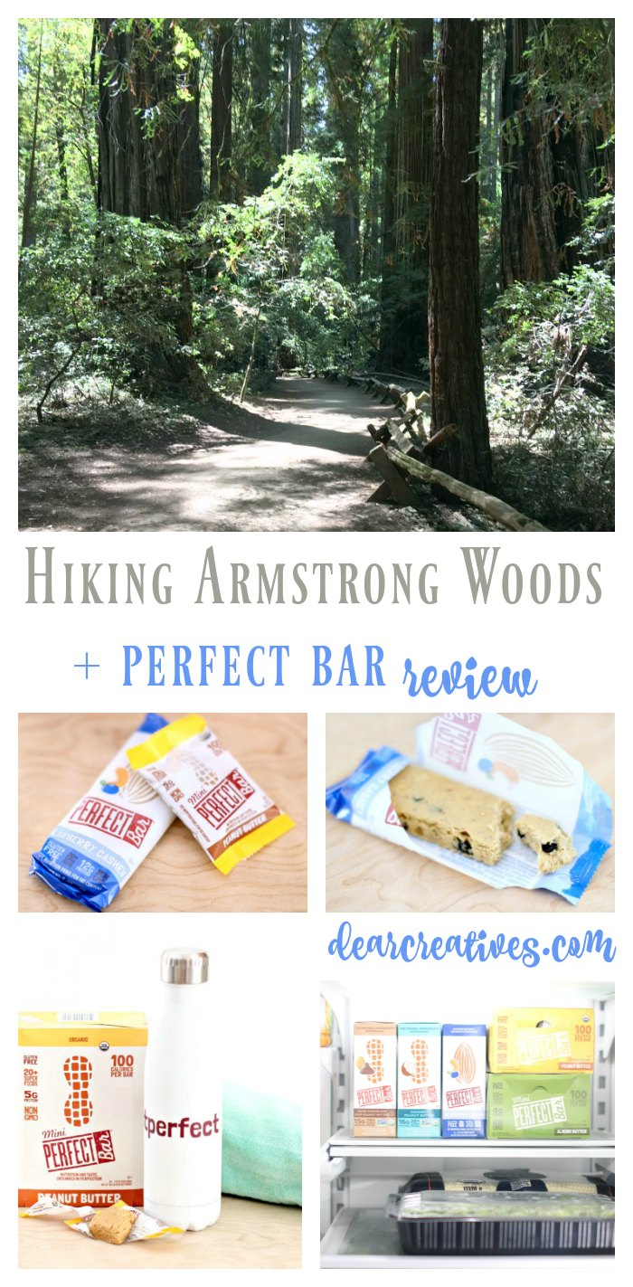 Are you looking for healthy snack ideas We are sharing a review of the Perfect Bar and Mini Perfect Bar snacks along with hiking at Armstrong Woods Park, Ca. find out more dearcreatives.com