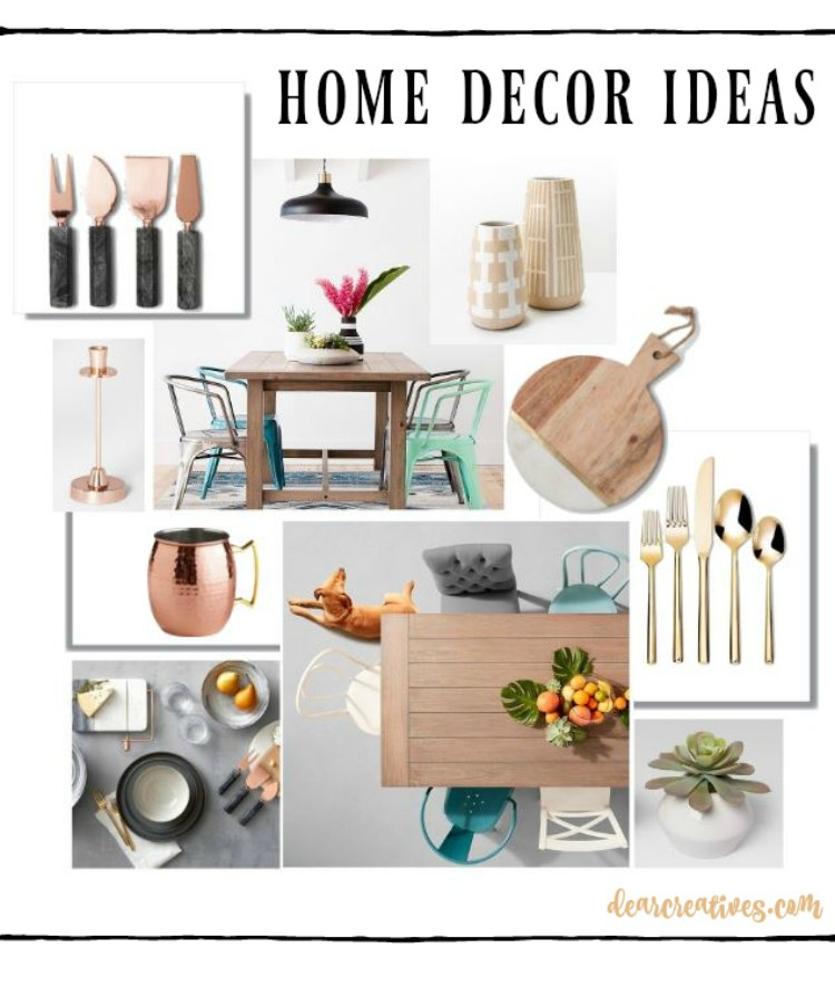 Are you looking for trendy, stylish home deor ideas Check out these chic home decor ideas on a budget. Plus tips for styling your home on a budget. You will love these ideas at DearCreatives.com