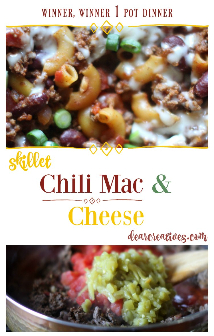 Chili Mac and Cheese this dinner is a winner. Using one pot for cooking the whole meal. Under 1 hour you can have dinner on the table with this ground beef recipe.