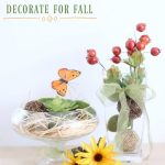 Easy DIY Centerpieces | Fall home decorations, easy ways to decorate for fall, and other seasonal décor ideas. You'll love these easy and affordable ideas for decorating your home. DearCreatives.com