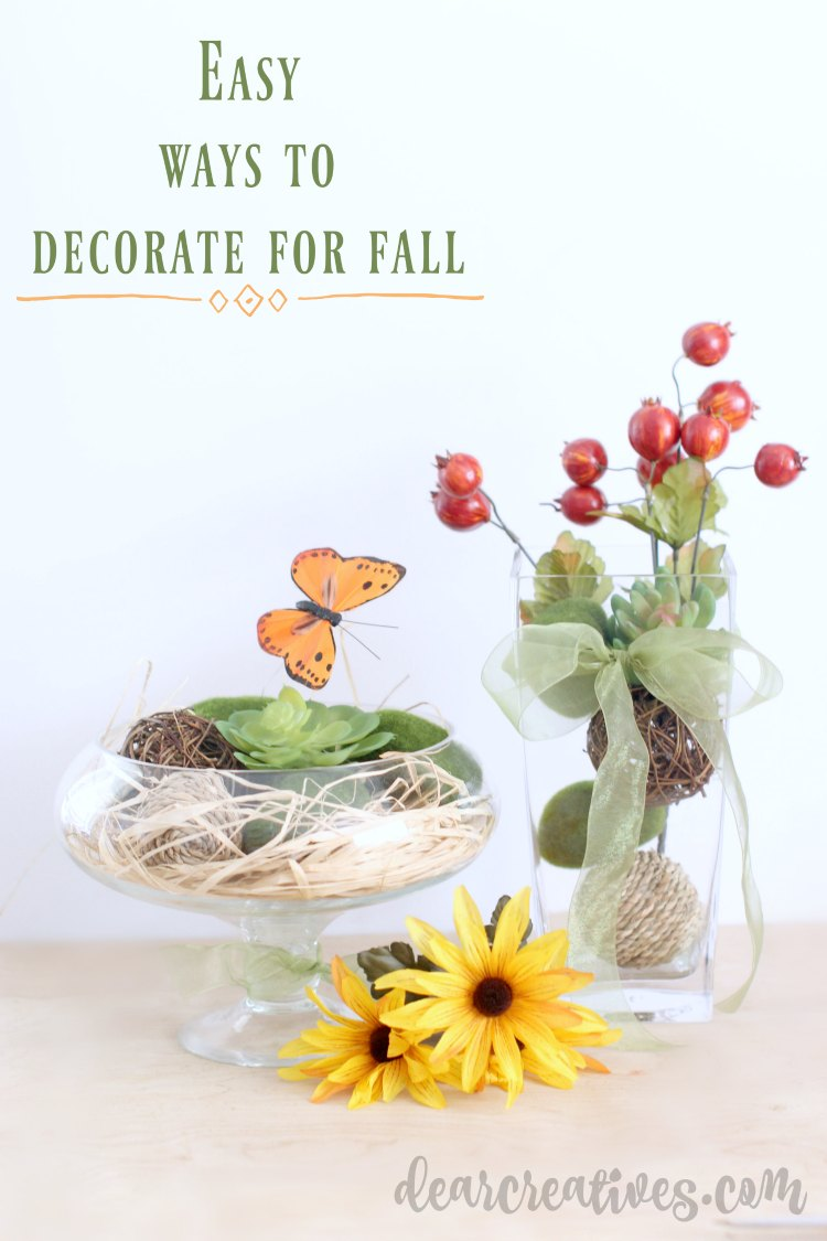 Easy Ways To Decorate Your Home For Fall – Easy DIY Center Pieces