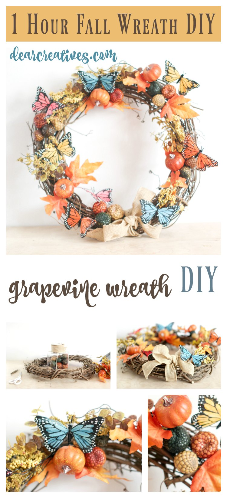 How To Decorate A Fall Wreath In An Hour