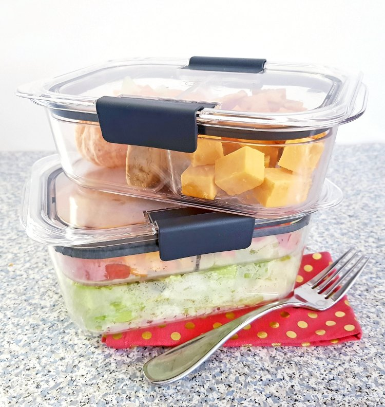 Lunch and snack storage solution for on the go lunches and snacks -Rubbermaid Brilliance