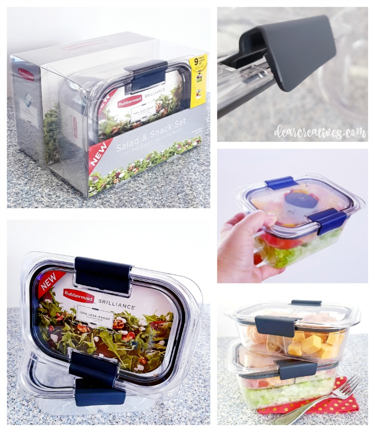 salad and snack set Rubbermaid containers Tips and ideas for lunches and snacks for on the go lunches.