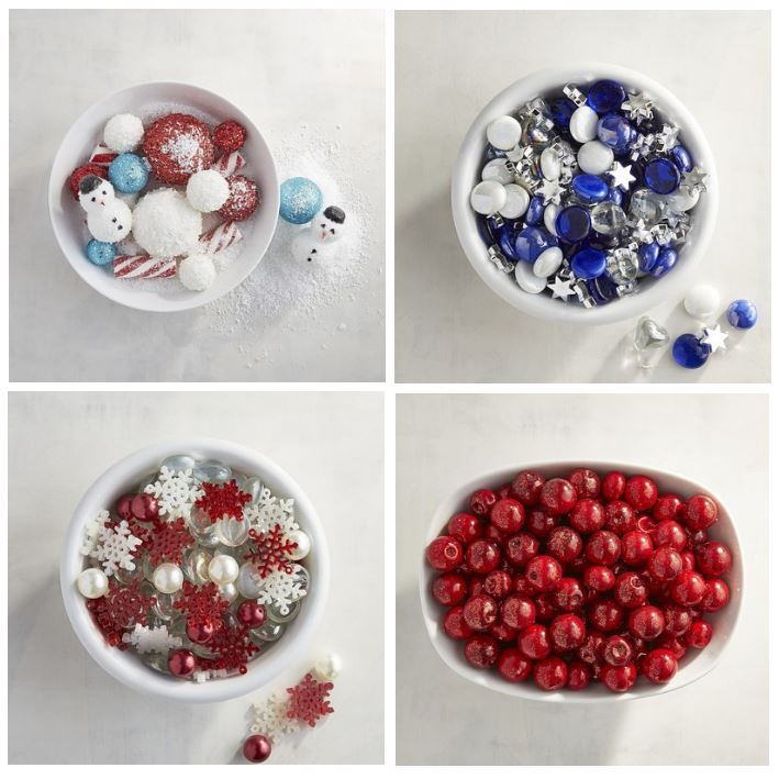 winter, holiday and Hanukkah bowl and vase fillers
