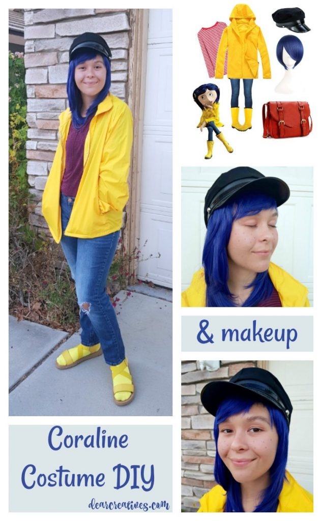 Easy No Sew Diy Coraline Halloween Costume Dearcreatives Com