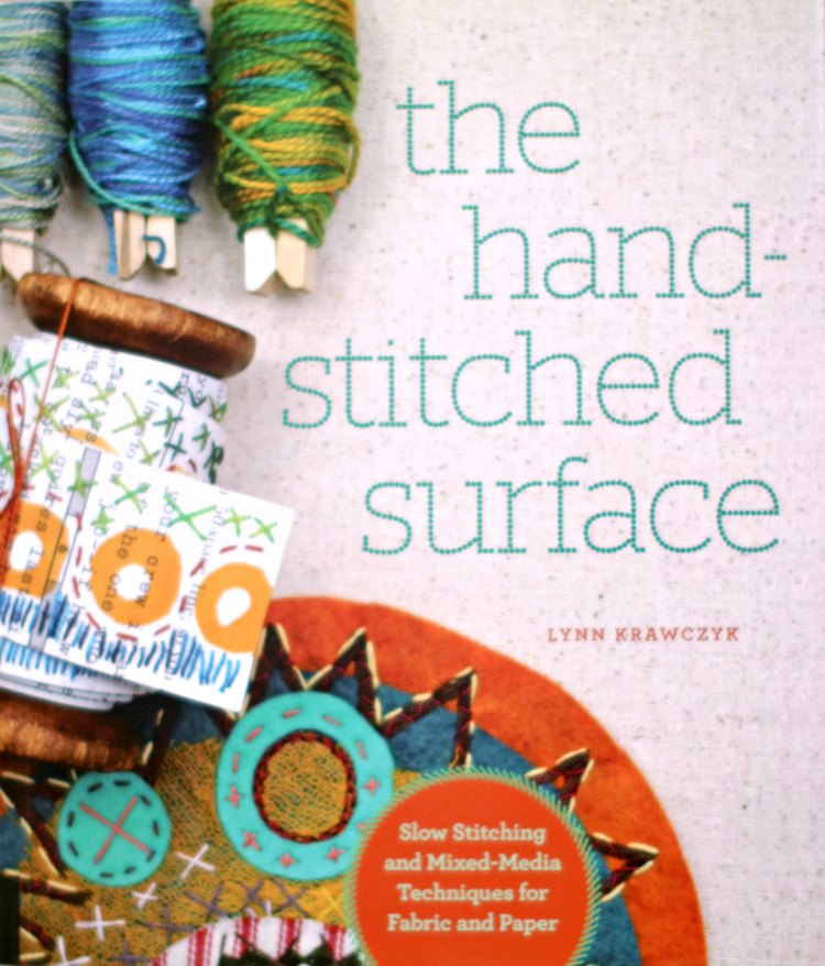 Do you want to learn hand stitching, embroidery and mixed media techniques Craft book review for The Hand Stitched Surface DearCreatives.com