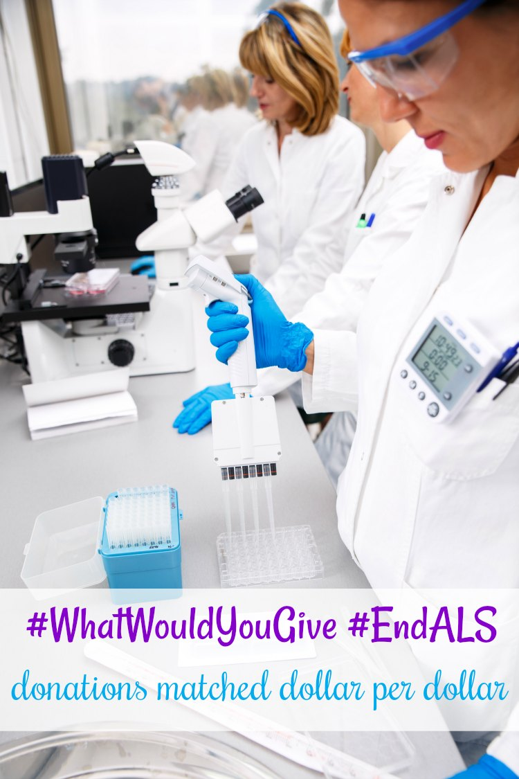 Dollar for Dollar Matching #WhatWouldYouGive #EndALS Help Find a Cure!