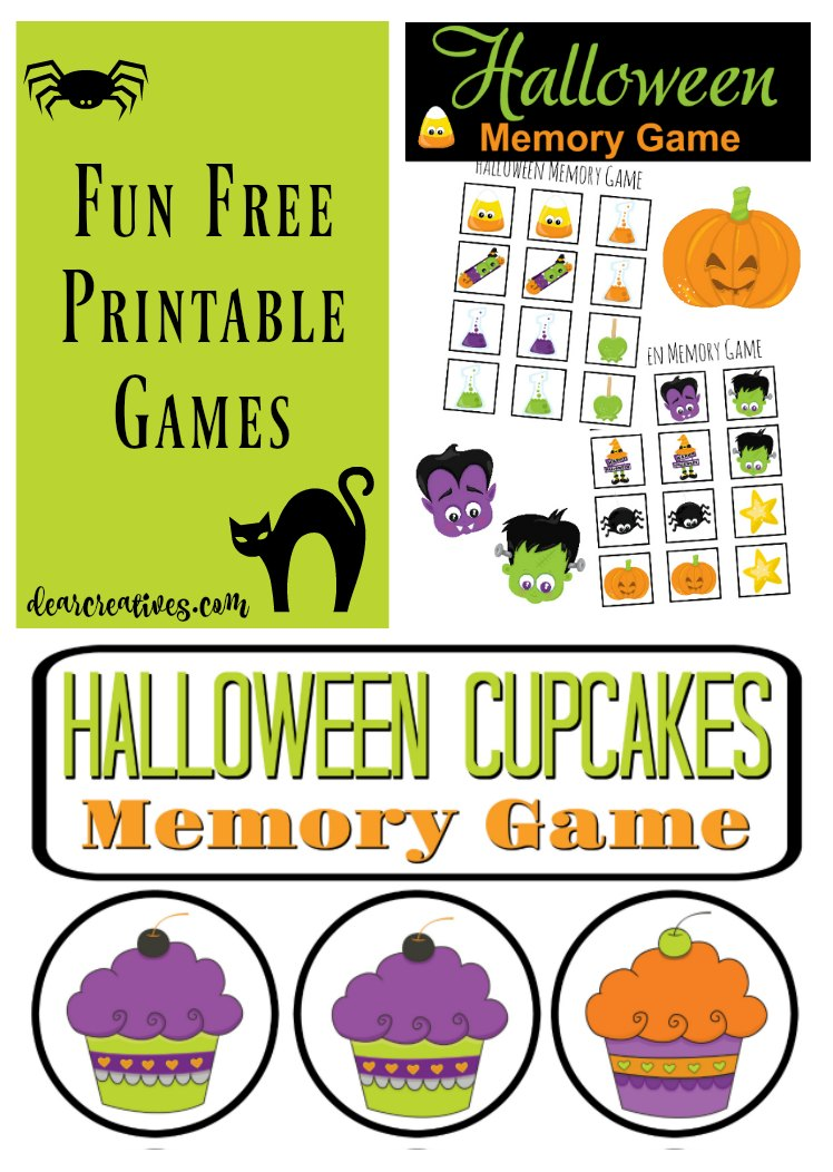 Fun Stuff For The Kids: Free Halloween Memory Game Printables