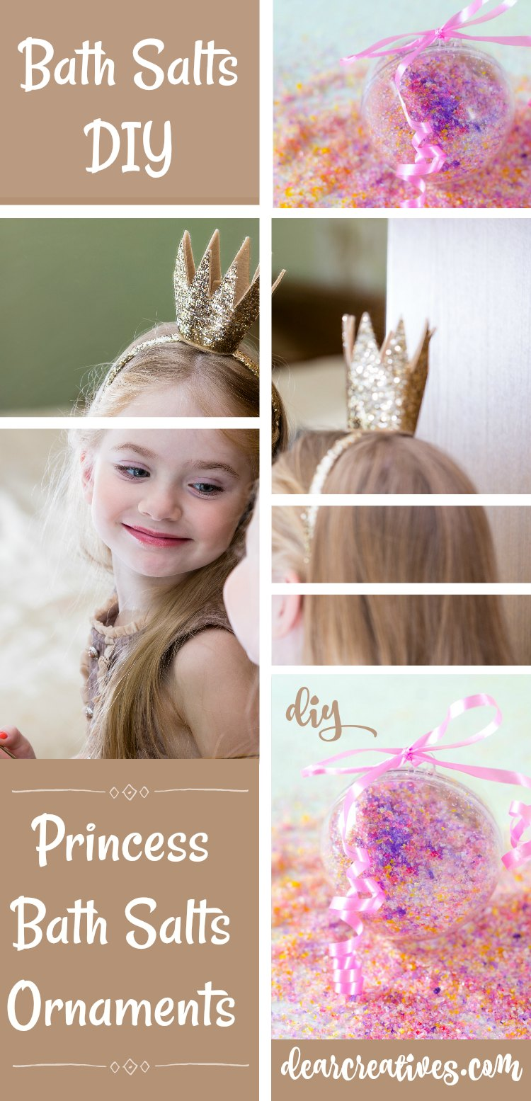 Fun And Easy Princess Bath Salts Ornaments DIY