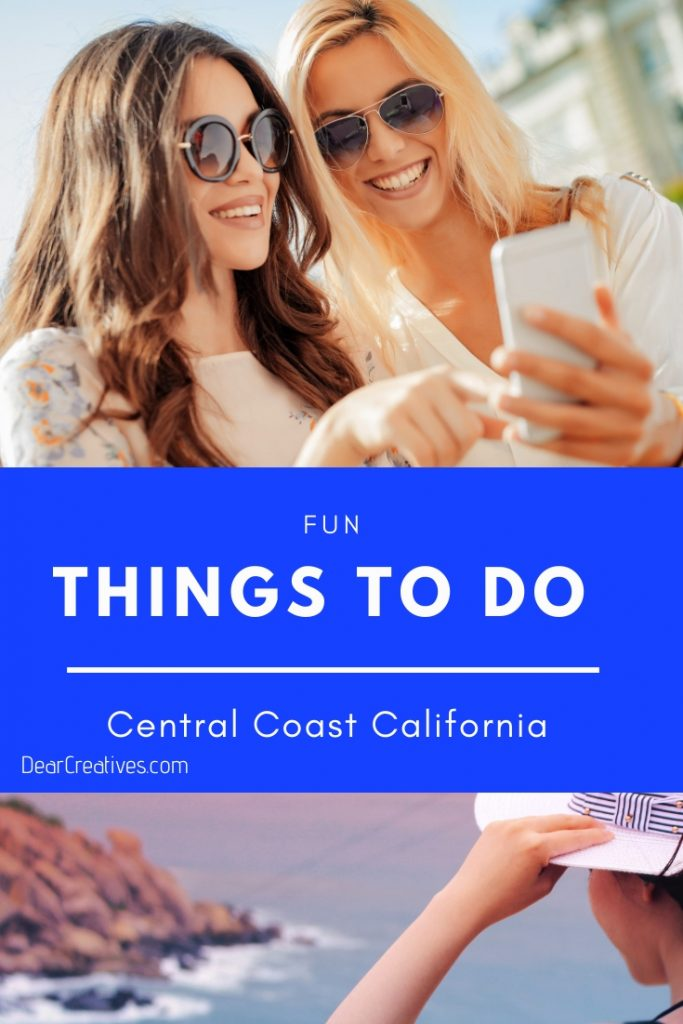 Things To Do Central Coast California - Activities, fun things to do, beaches, travel ideas for Paso Robles, San Luis Obispo + surrounding coastal area. Back road adventures, things to do this weekend, seasonal activities, year round activities...DearCreatives.com