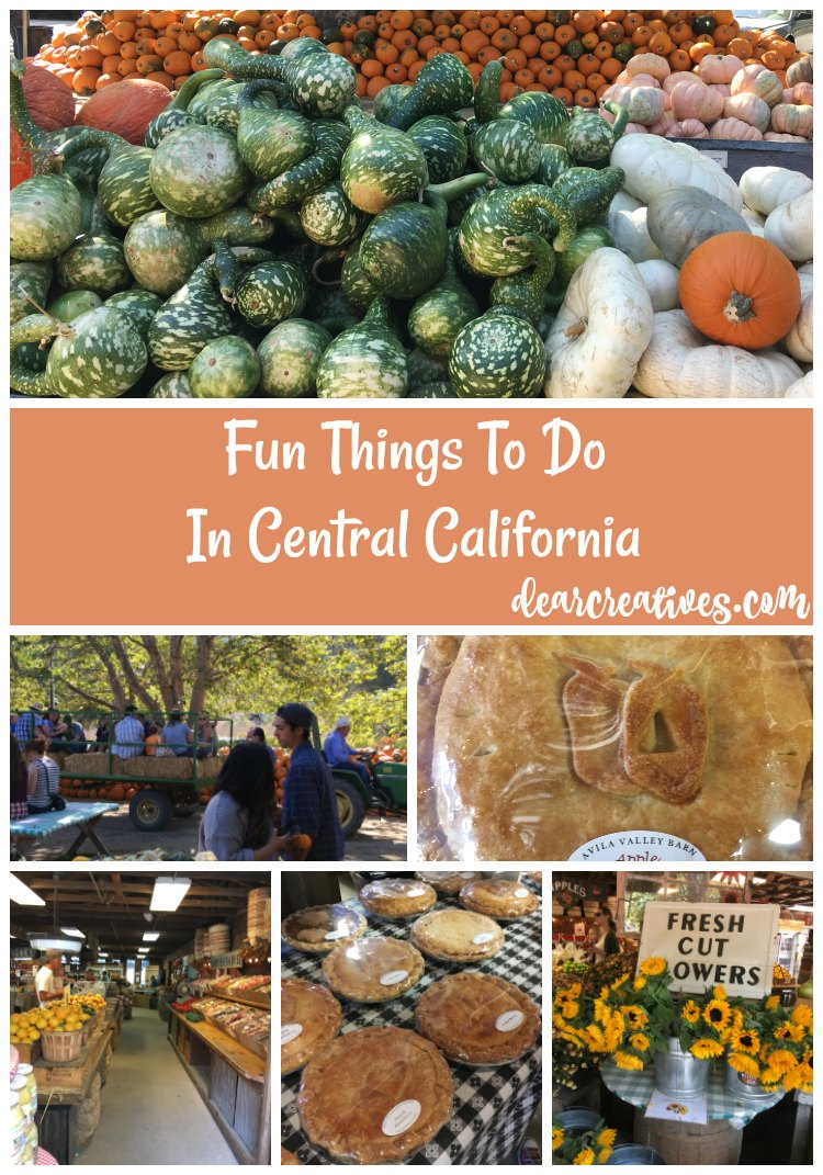 top 5 fun things to do in the fall Central, Ca. inside tips to visiting California. DearCreatives.com
