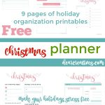 Christmas Planner Printables Grab your own set of 9 free printables - 9 Pages of Christmas Planner Pages that will help make your holidays stress free and organize you