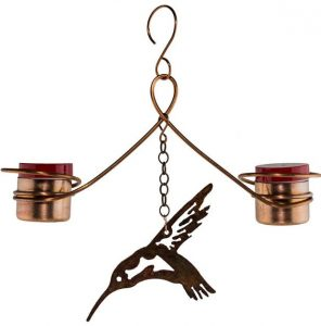 Copper humming bird feeder is the perfect gift for the bird lover