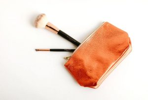 Leather Makeup pouch bag